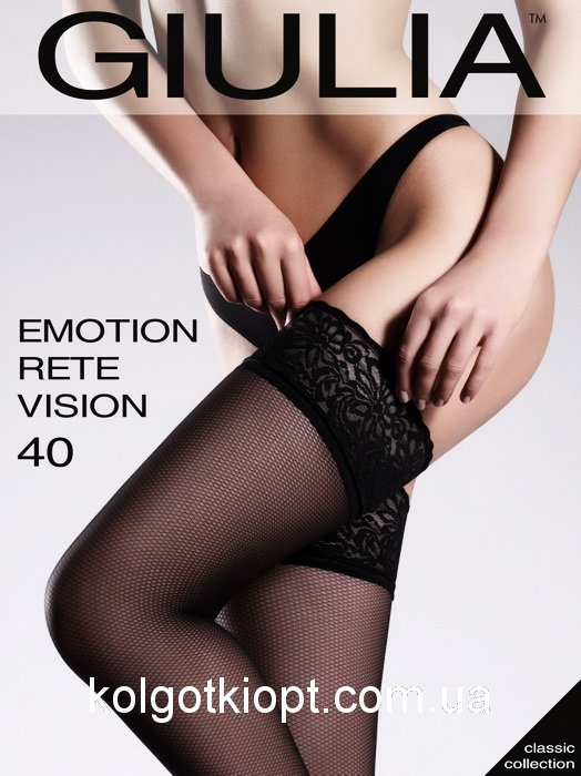 Чулки Giulia Emotion Rete размер 3/4 плотность 20 Den Cappuccino
